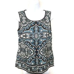 Ann Taylor Sleveless 100% Silk Top | Size 12